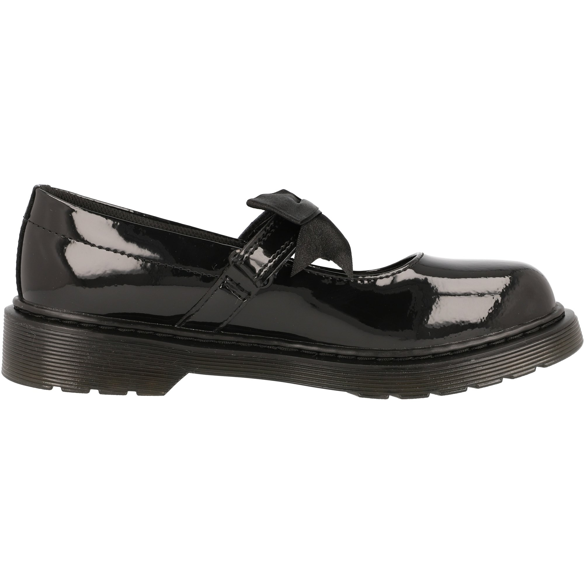 Dr. Martens Maccy II J Black Patent Junior Mary Jane Shoes