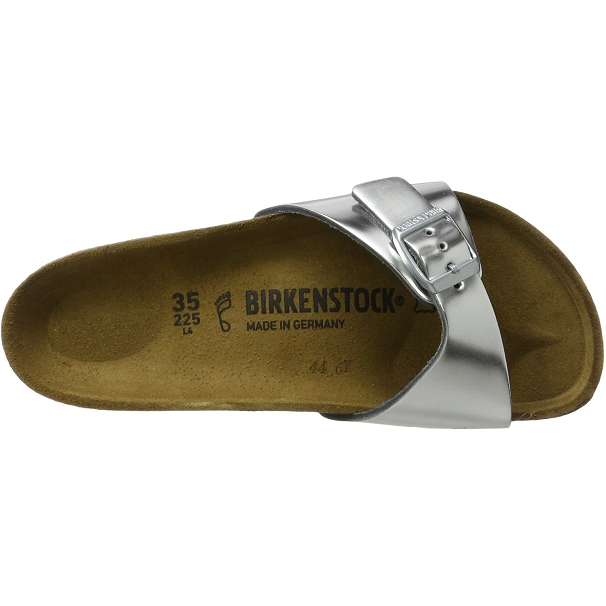 Birkenstock Madrid Metallic Silver Leather Adult