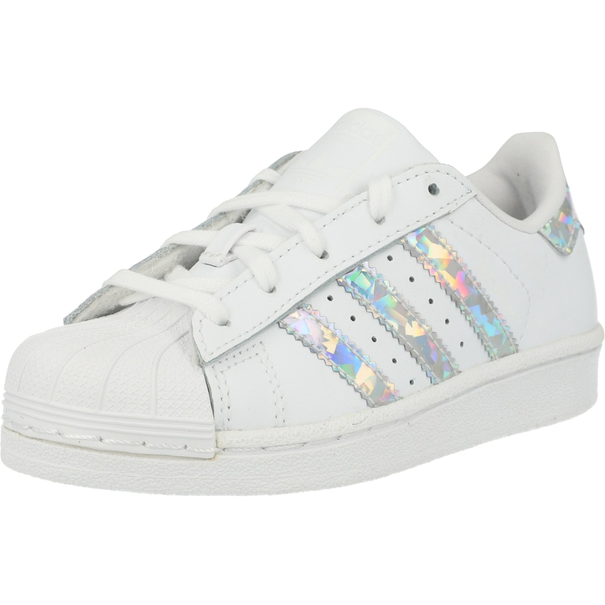 adidas superstar junior white and silver