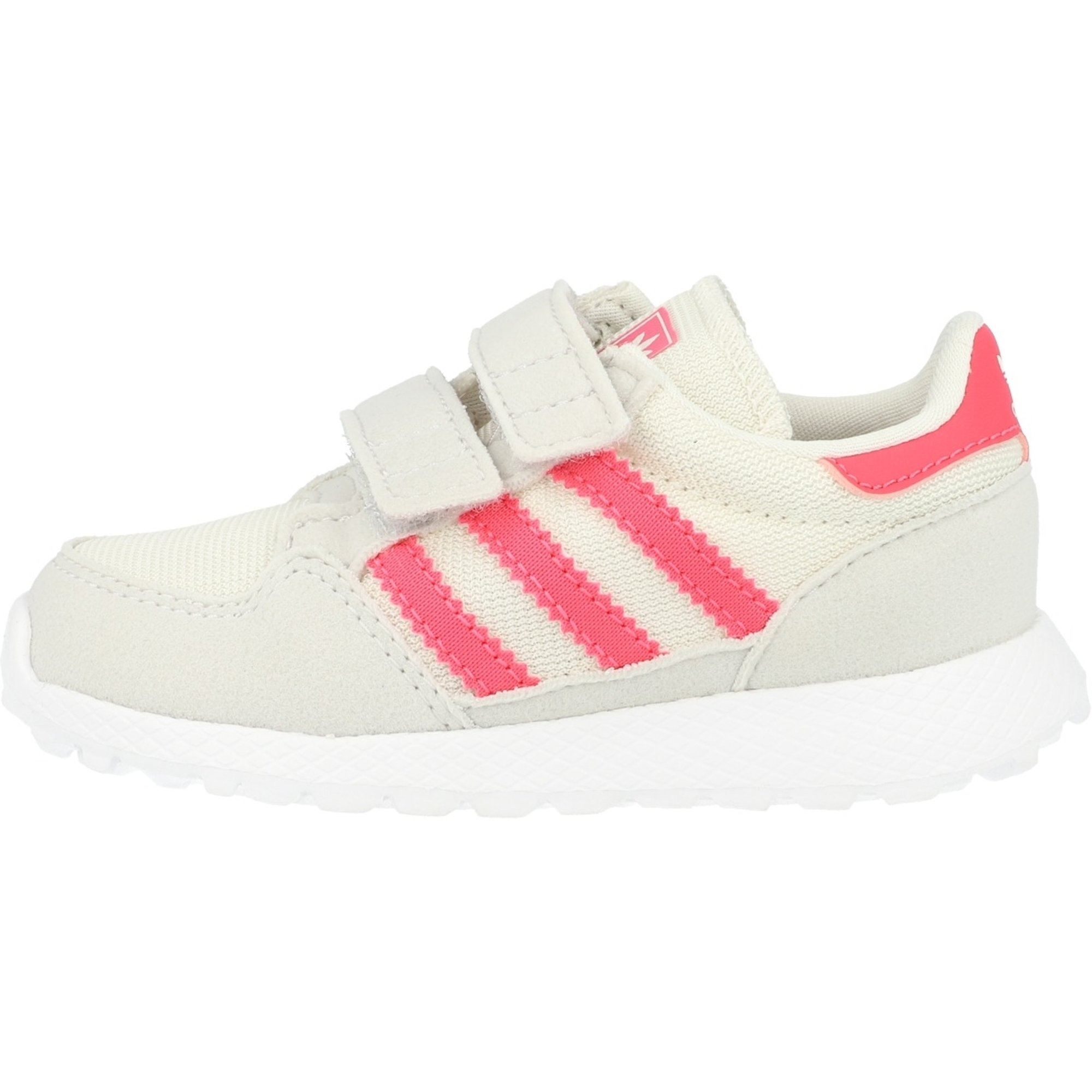 adidas Originals Forest Grove CF I Chalk WhiteReal Pink Synthetic Suede Infant