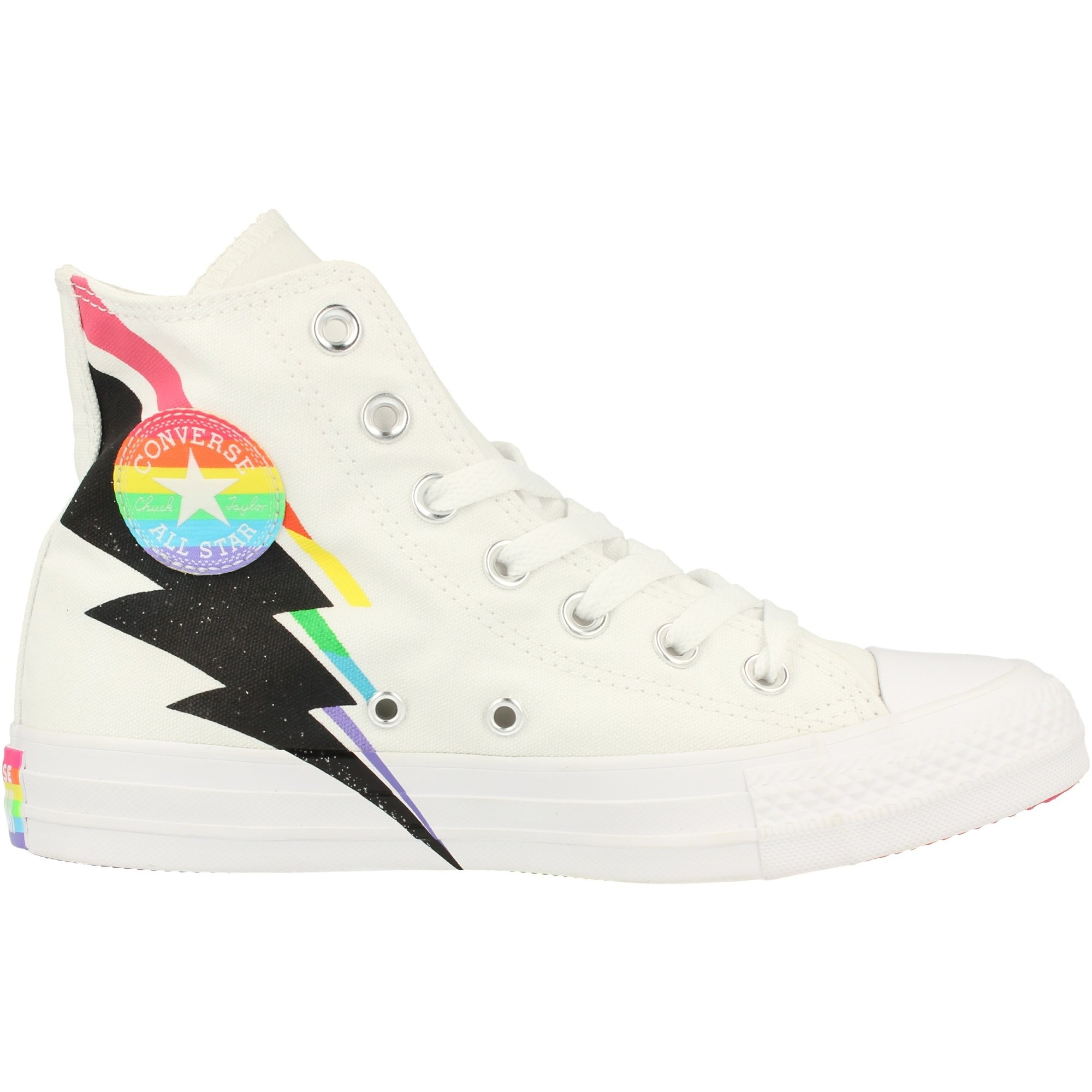Converse Chuck Taylor All Star Pride Hi White/Black/Multi Canvas Adult