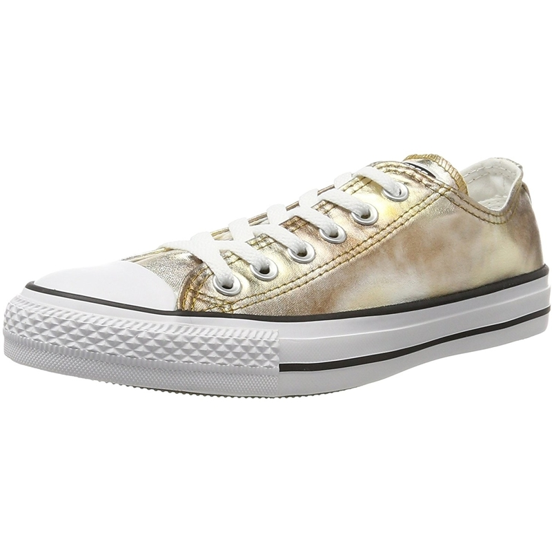 Details about Converse Chuck Taylor All Star Ox SilverGold Textile Adult Trainers Shoes