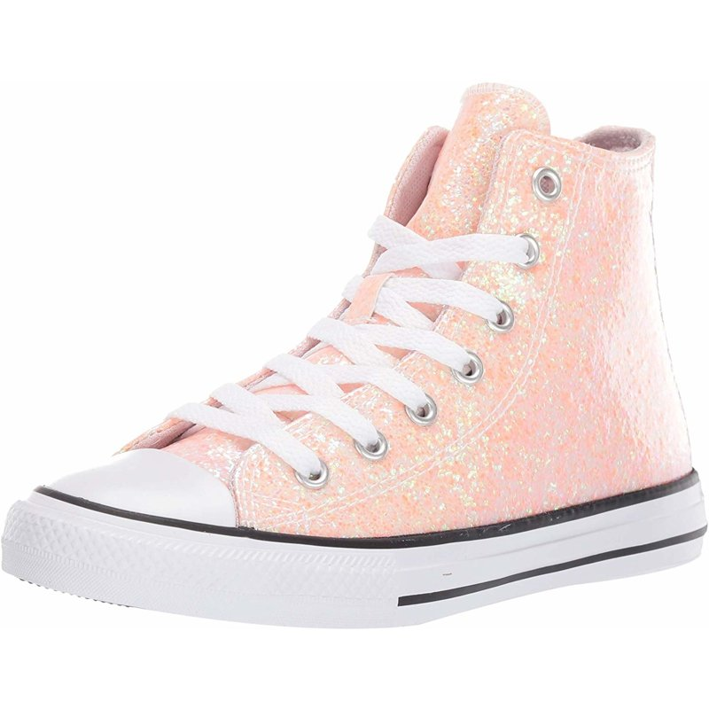 Details about Converse Chuck Taylor All Star Coated Glitter Hi Barely Rose Synthetic Youth