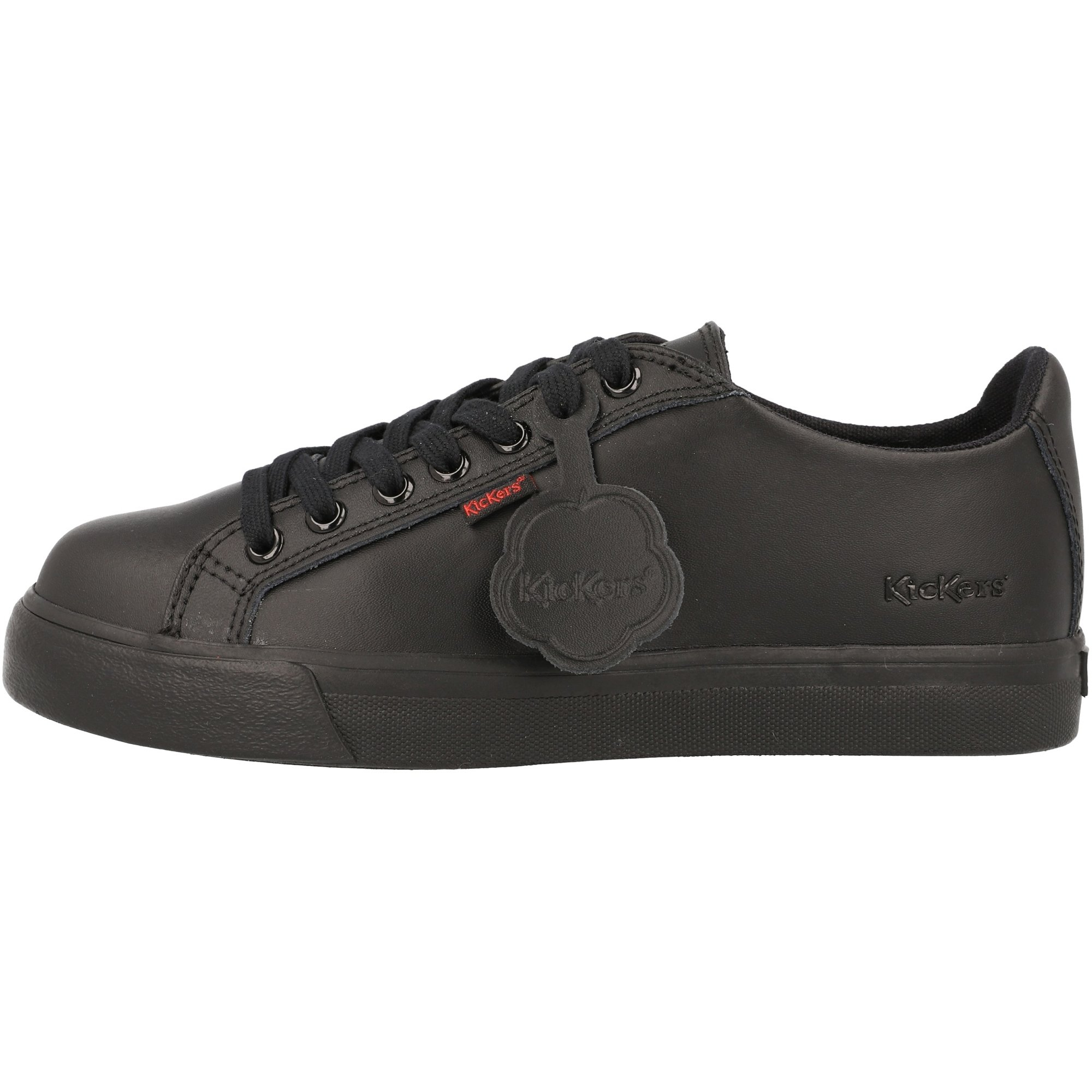 Kickers Tovni Lacer Y Black Leather Youth