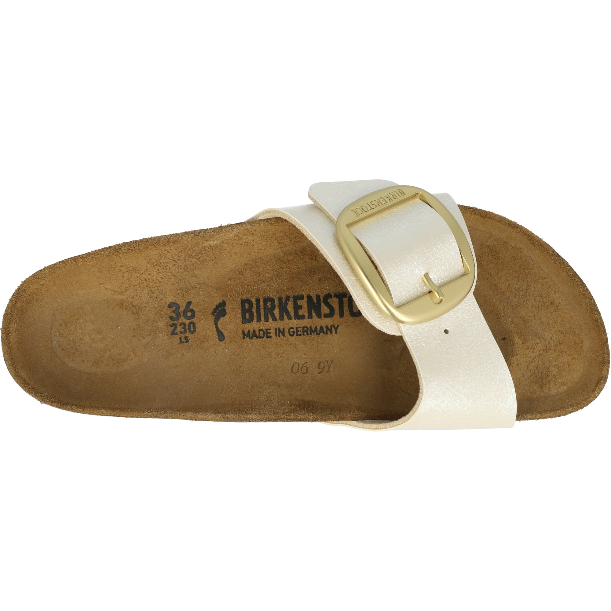 Birkenstock Madrid Big Buckle Graceful Pearl White Birko-Flor Adult