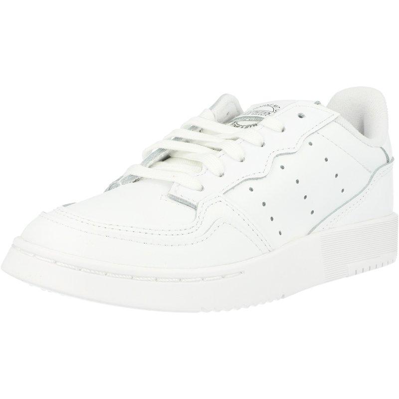 Détails sur adidas Originals Supercourt C Blanc Cuir Enfant Formateurs Chaussures