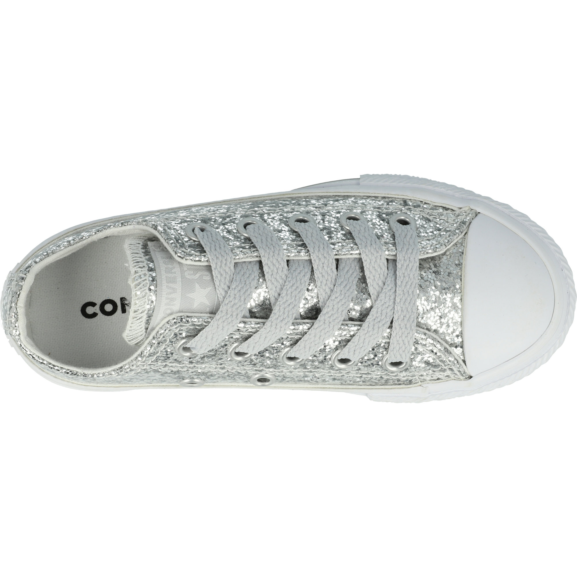 Converse Chuck Taylor All Star Glitter Pure Silver Synthetic 27 EU