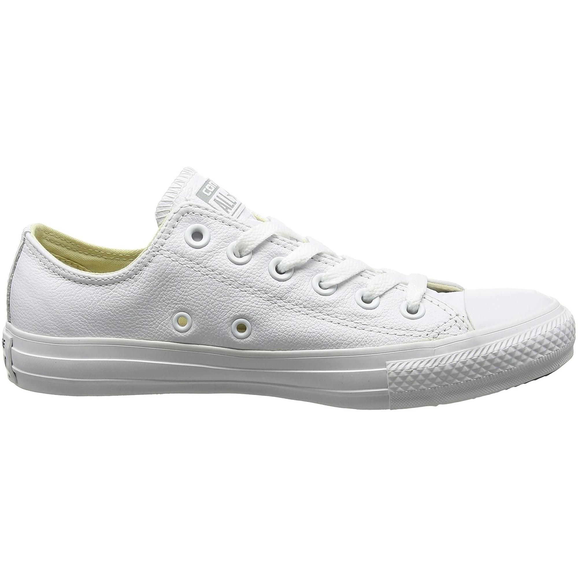 converse all star cuero zapatos 136823c blanco