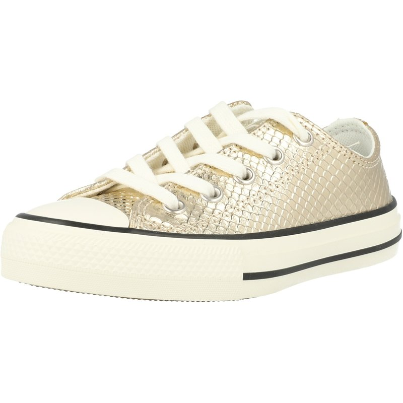 Details about Converse Chuck Taylor All Star Metallic Snake Ox Gold Textile Youth