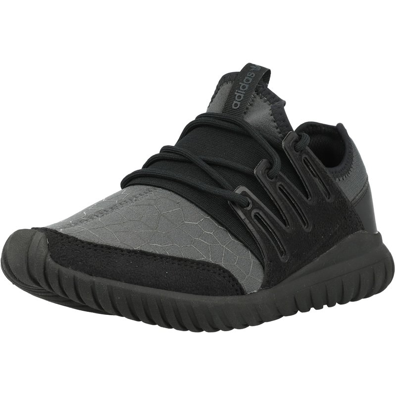 Détails sur adidas Originals Tubular Radial J Noir Textile Jeunesse Formateurs Chaussures