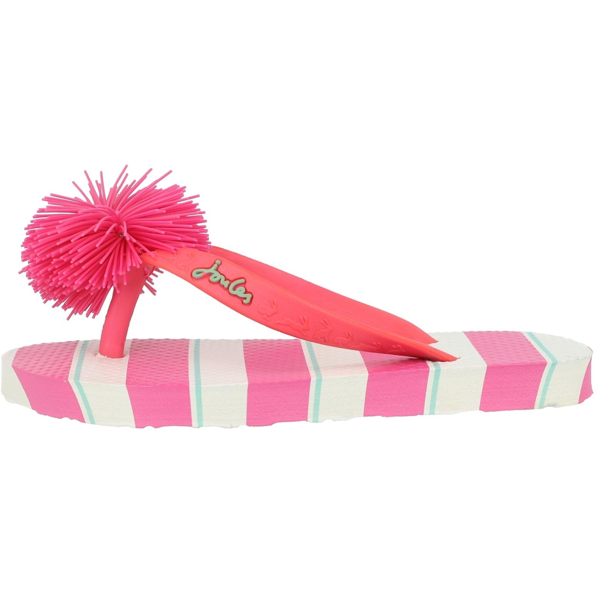 Joules Printed Flip Flops Stripe Pink EVA Junior