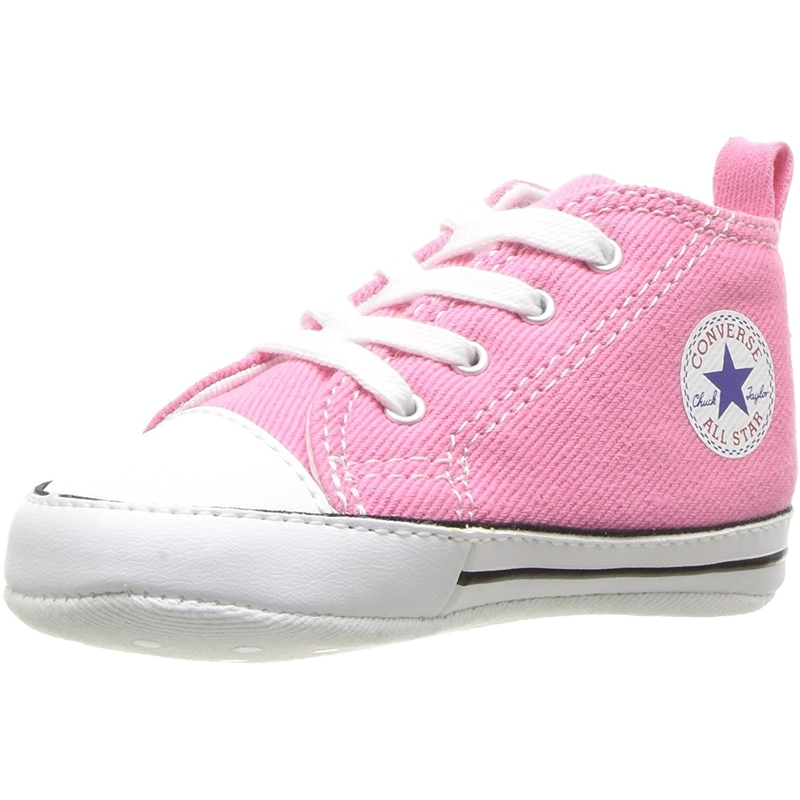 Details zu Converse Chuck Taylor First Star Rosa Textile Baby Soft Soles