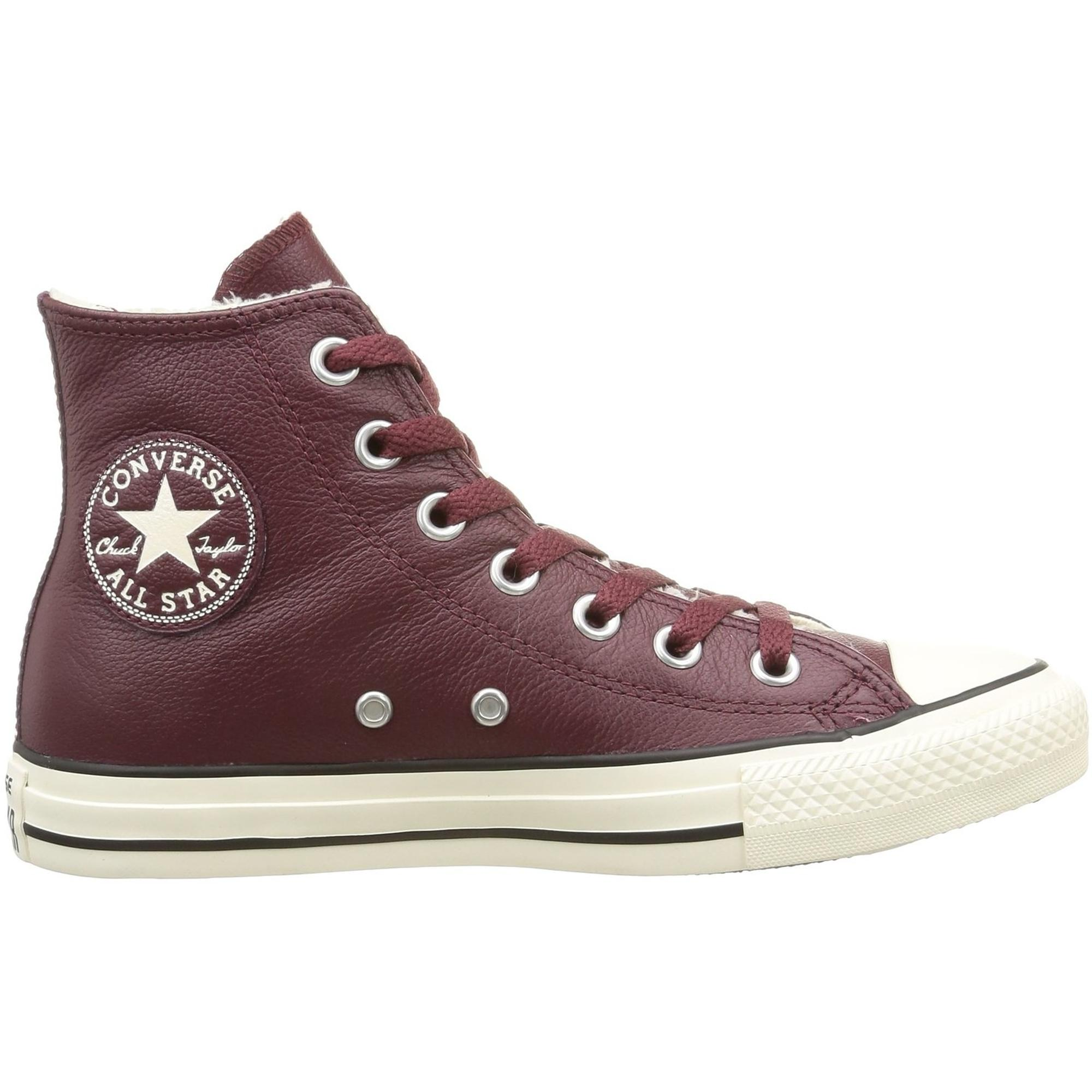 Converse Chuck Taylor All Star Shearling Hi Deep Bordeaux Leather Adult