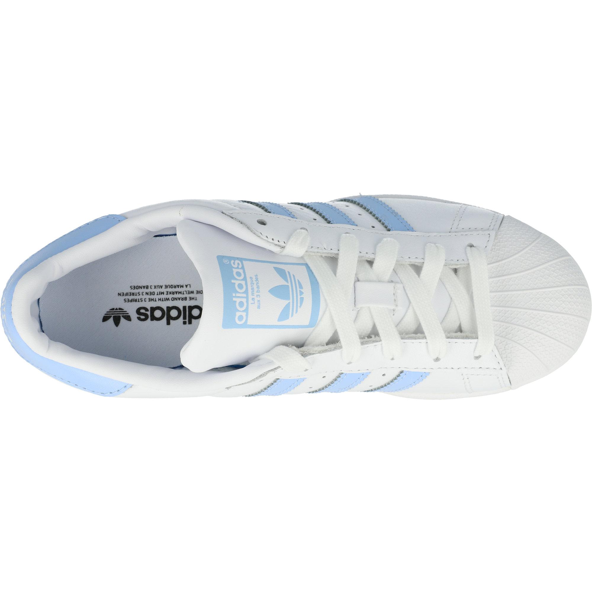adidas Originals Superstar W WeißBlau Leuchten Leder Erwachsene