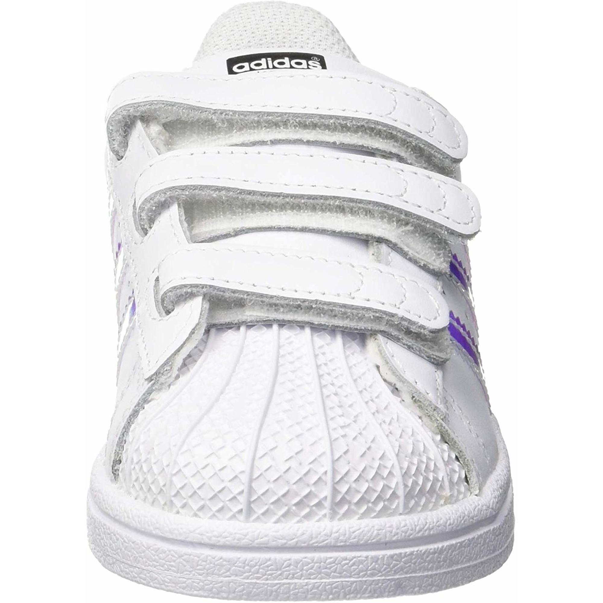 adidas Originals Superstar CF I White/Iridescent Leather Infant