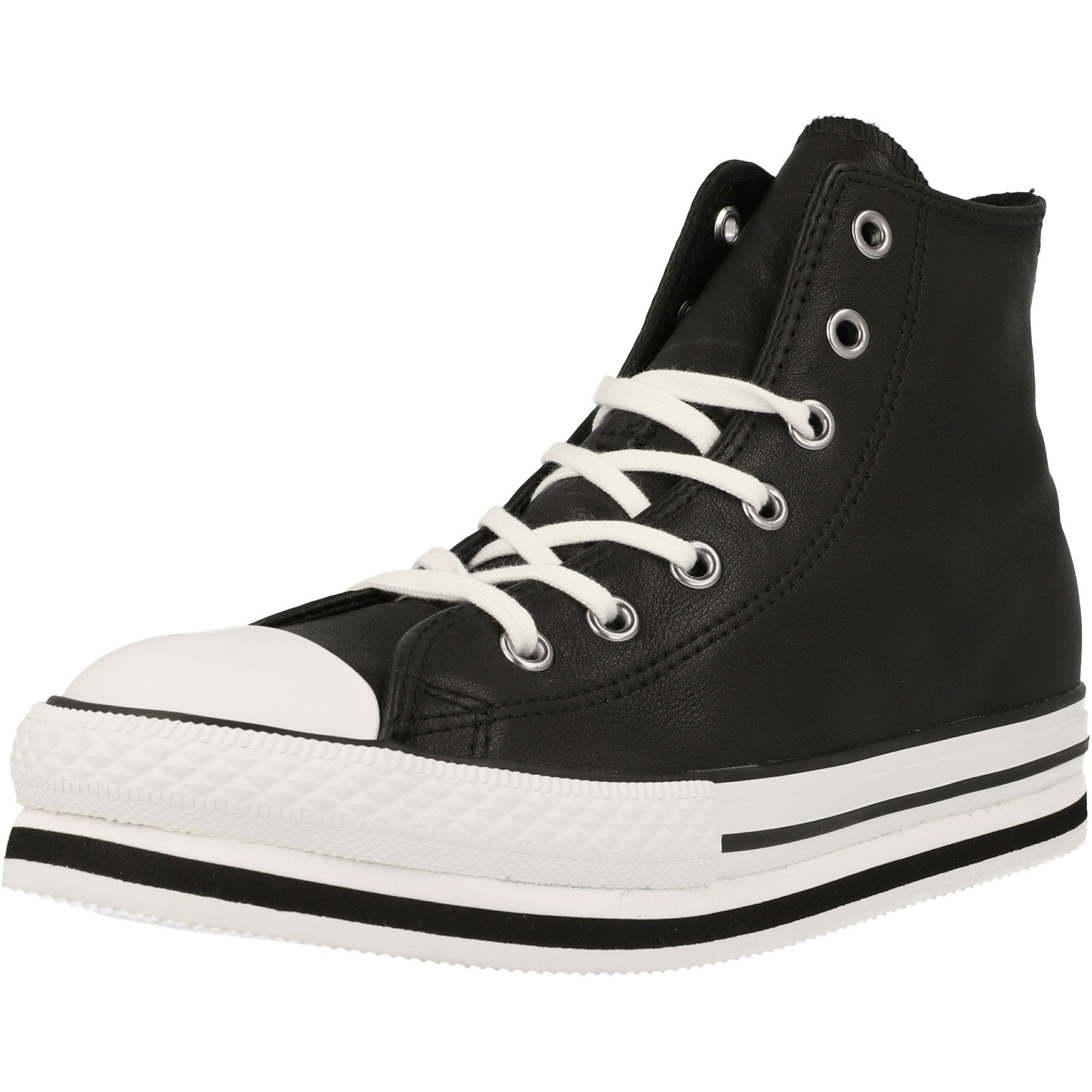 Converse Chuck Taylor All Star Platform EVA Hi Black/White Leather Youth