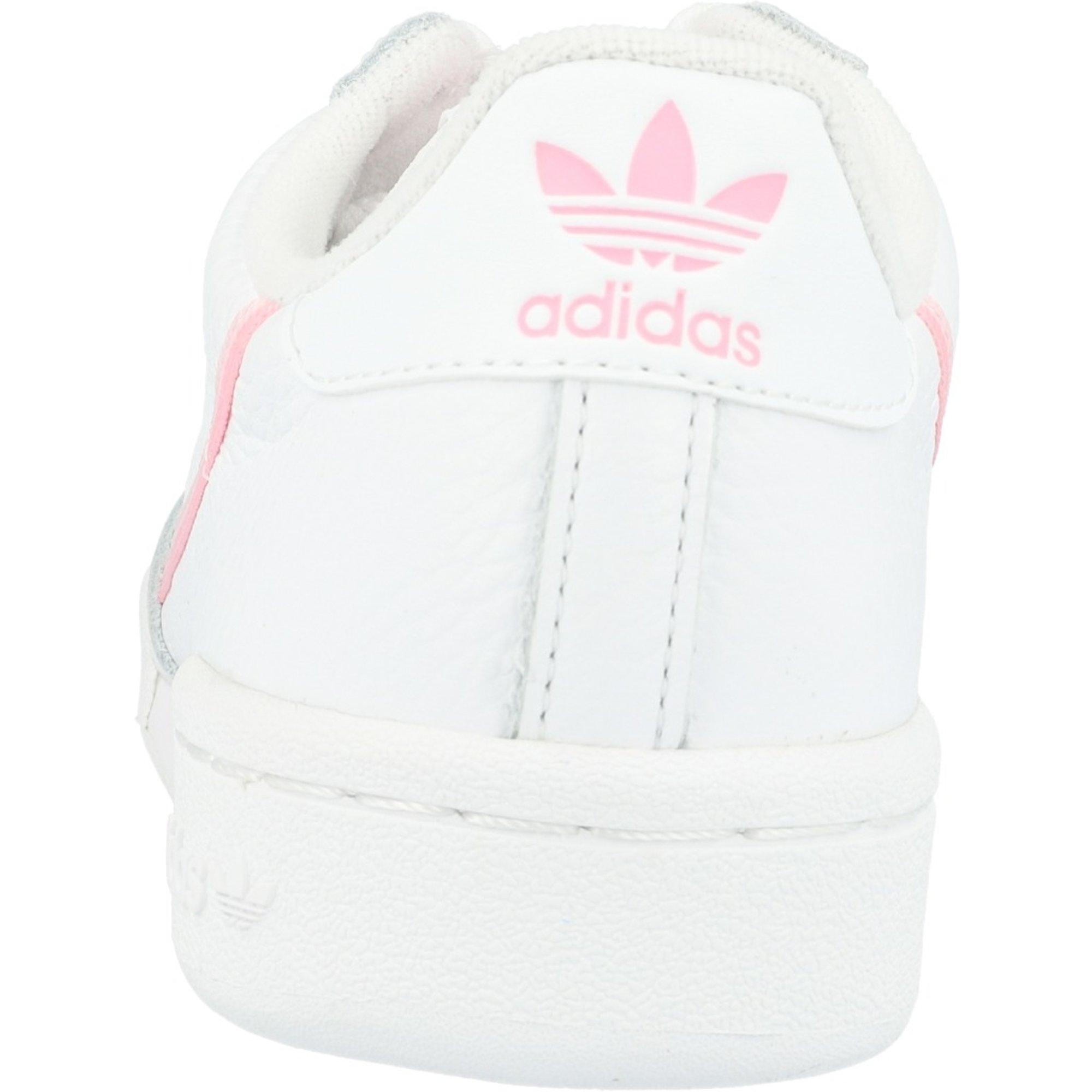 Adidas W Cuir Originals Continental 80 Blancvrai Rose Adulte