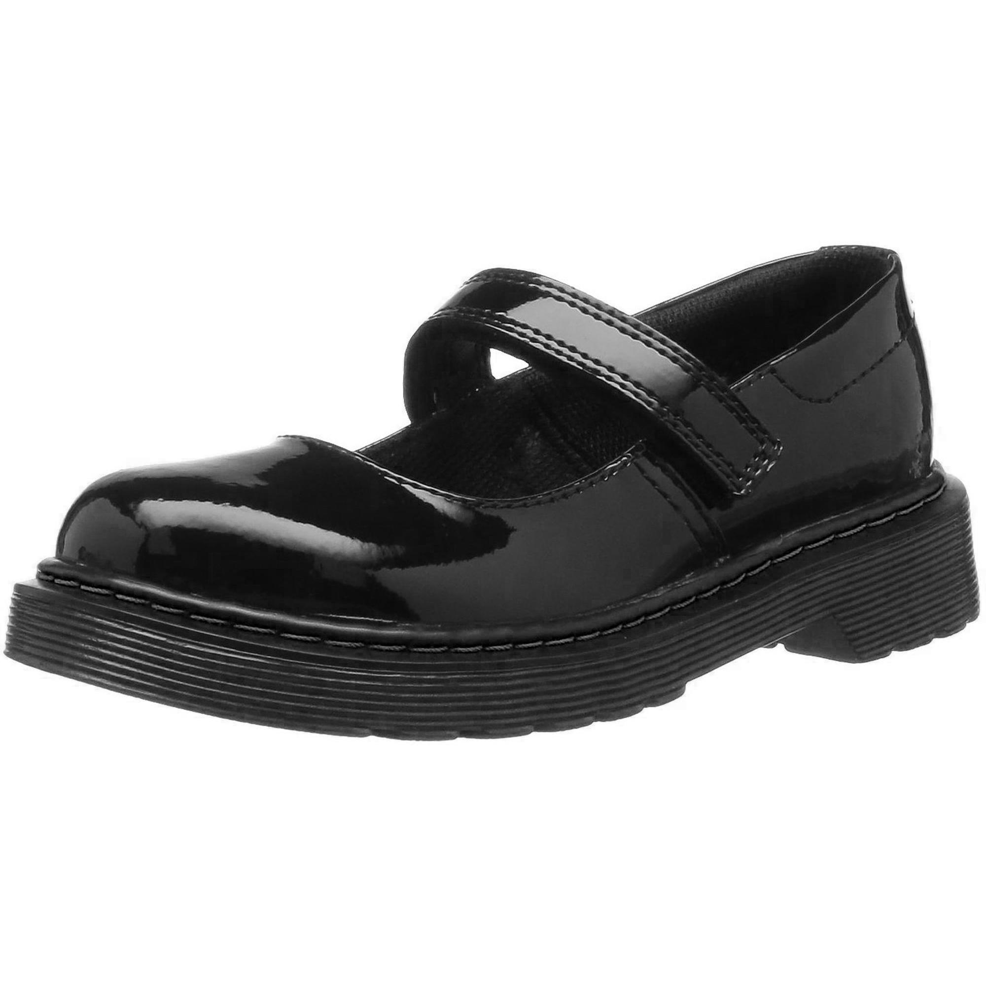 Dr.Martens Maccy Black Youth Patent Lamper Leather Mary Jane Shoes