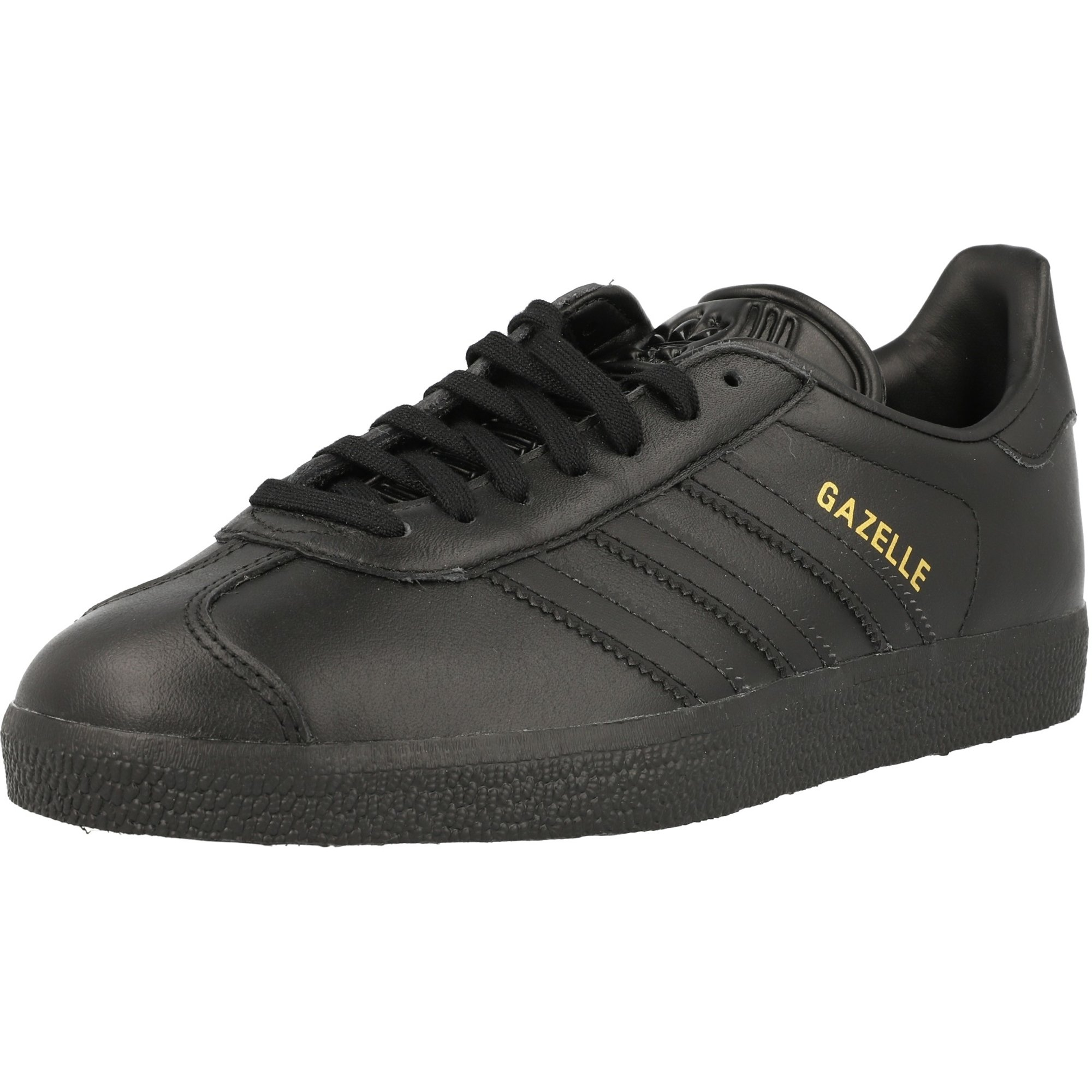 Adidas Gazelle Leather Sz 10 BlackGold (BB5497)