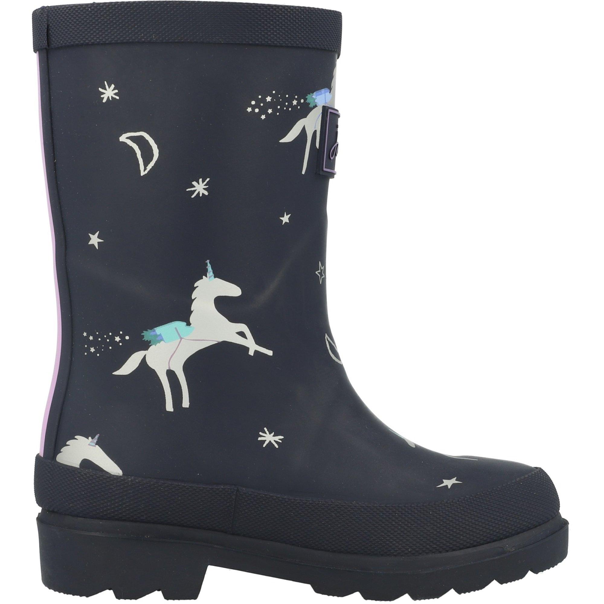 Kids Girls Boys Unicorn Wellington Boots Antip-slip Rain Snow Wellies Shoes Size