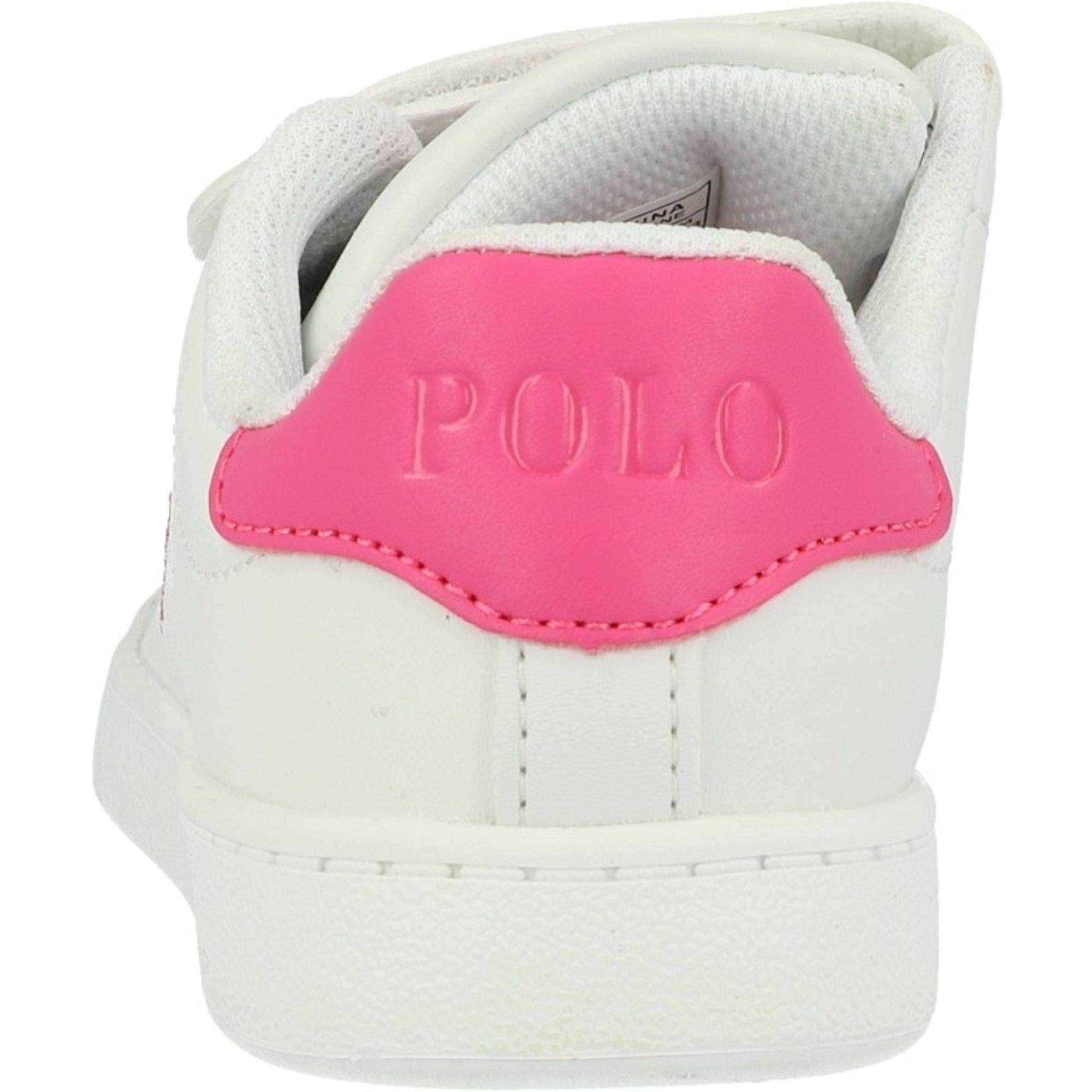 Polo Ralph Lauren Quilton EZ White/Baja Pink Leather