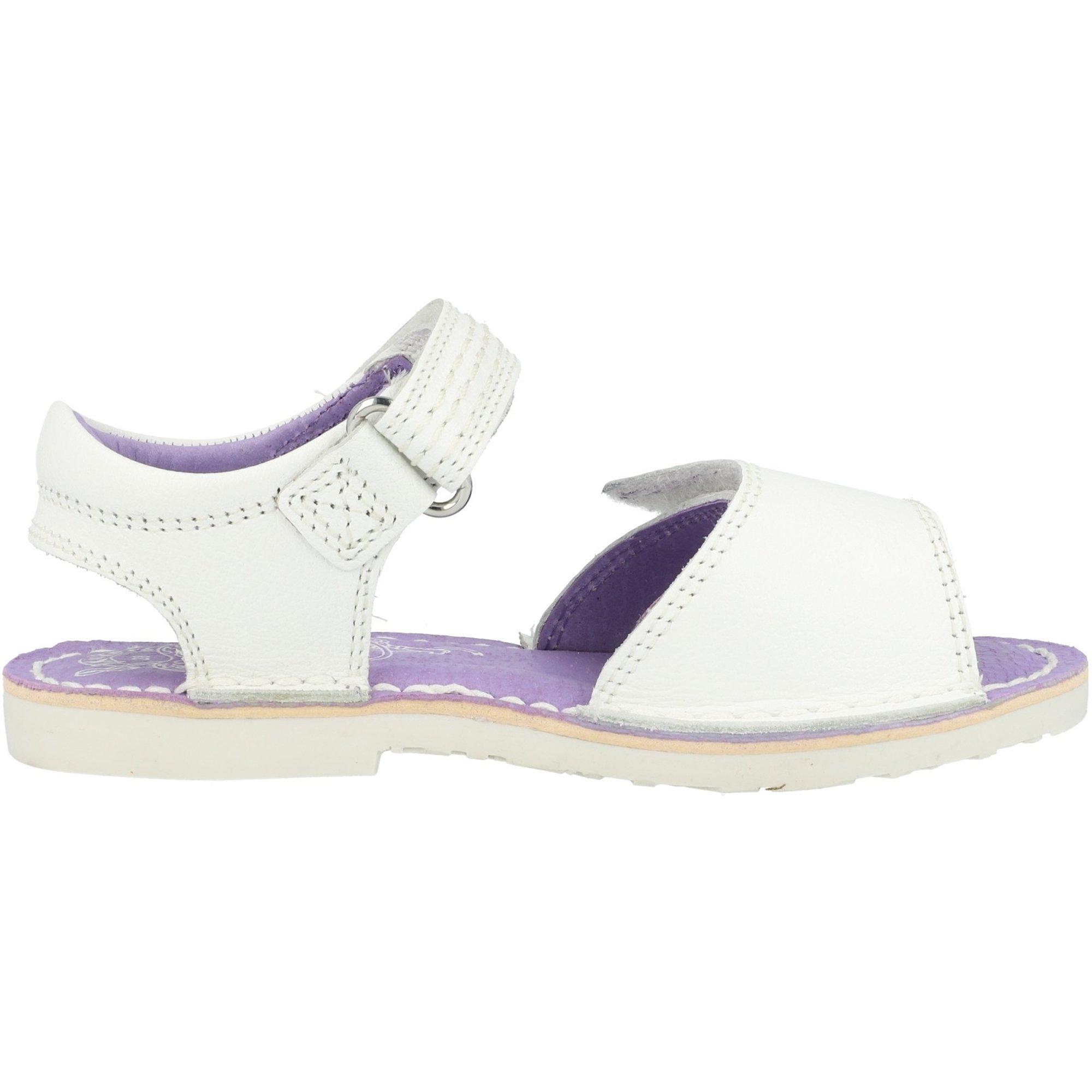 Adlar kickers adlar sandal i white leather infant