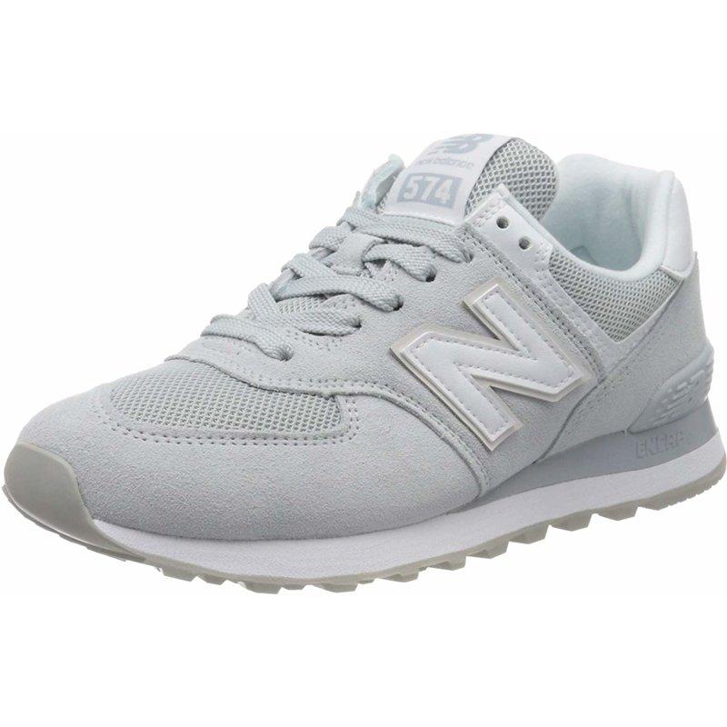 new balance 574 pelle bianca