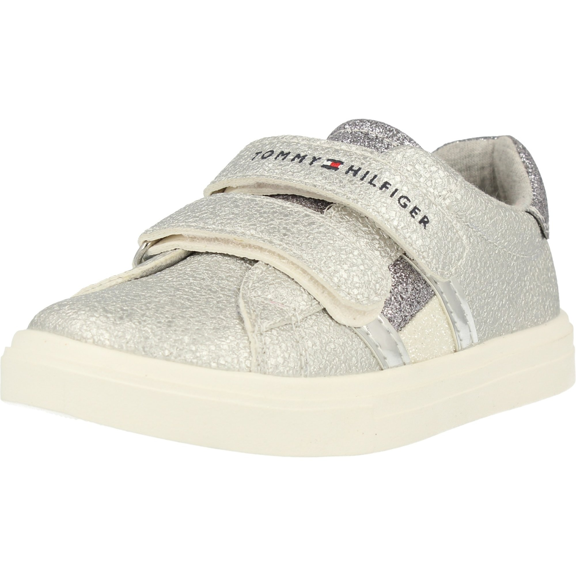 Tommy Hilfiger T1A4-30287-0582 Silver Eco Leather Infant