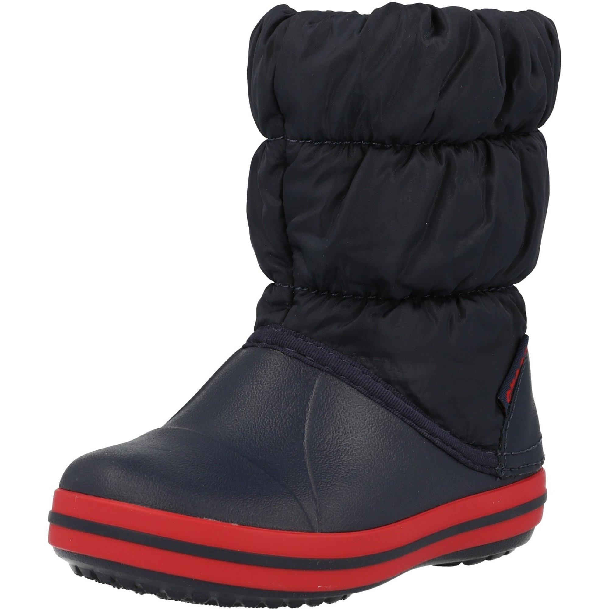 Crocs Kids Winter Puff Boot Navy/Red Nylon Infant