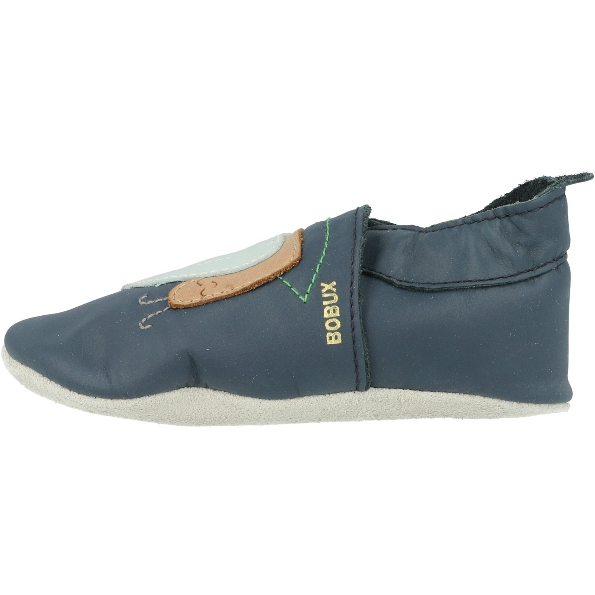 Bobux Soft Sole Snail Navy Leather Baby Soft Soles Shoes