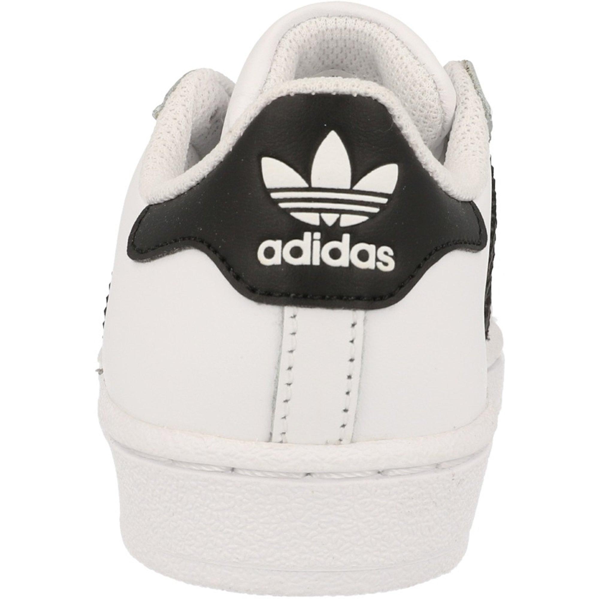 adidas Originals Superstar C White/Black Leather Junior
