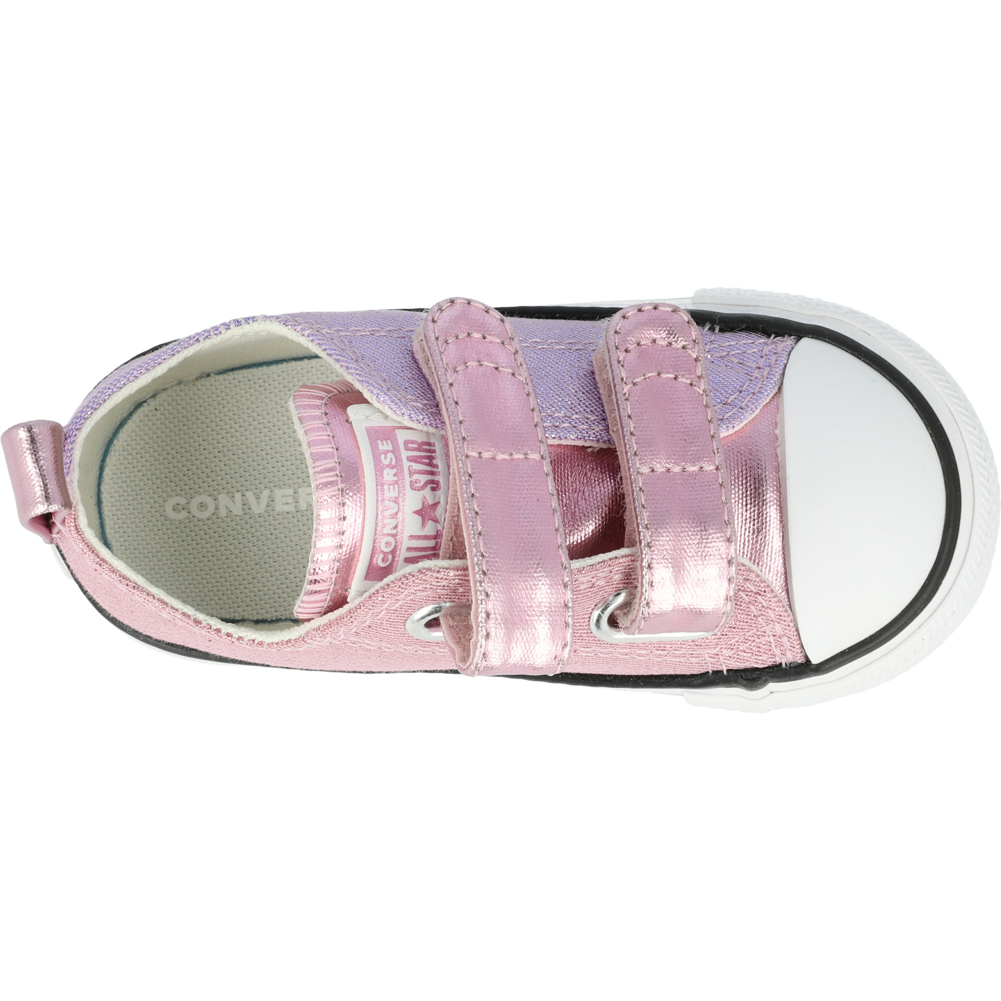 Converse Chuck Taylor All Star 2V Metallic Ox Cherry Blossom/Washed Lilac Canvas Infant