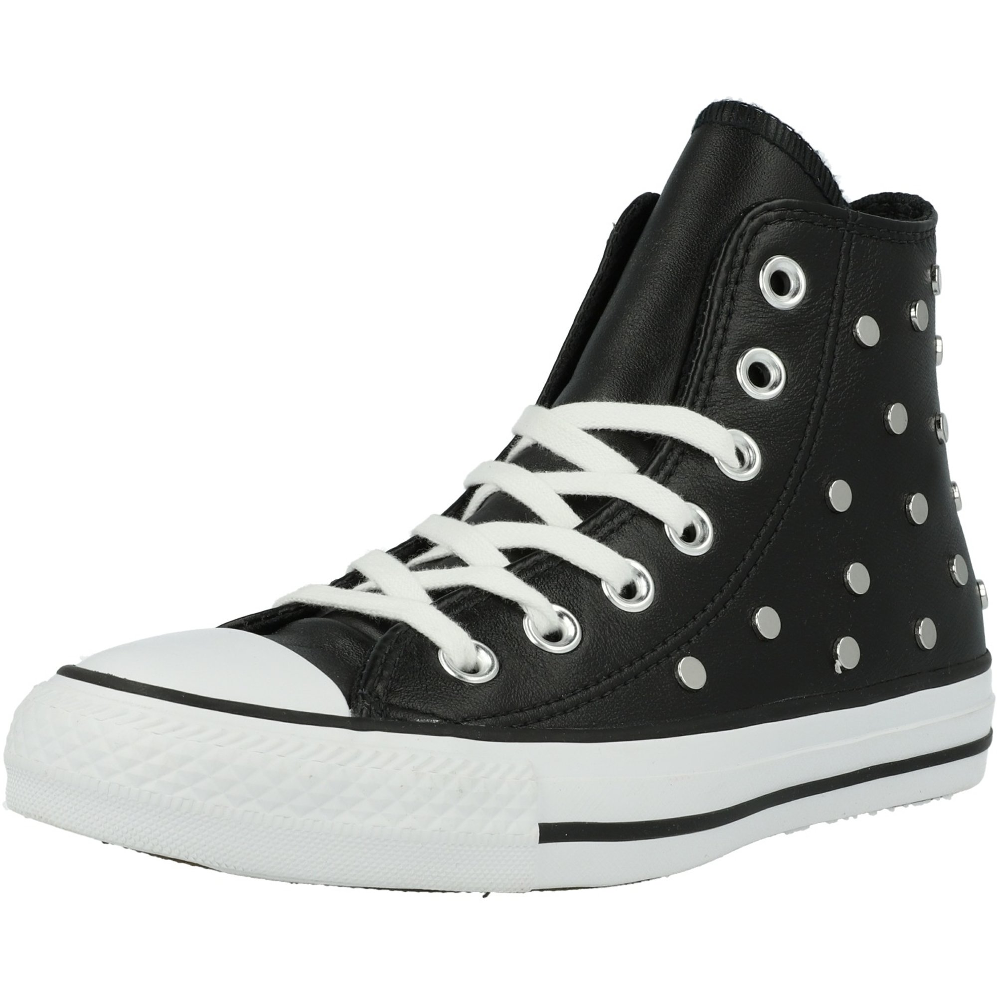 2converse all star hi pelle nero