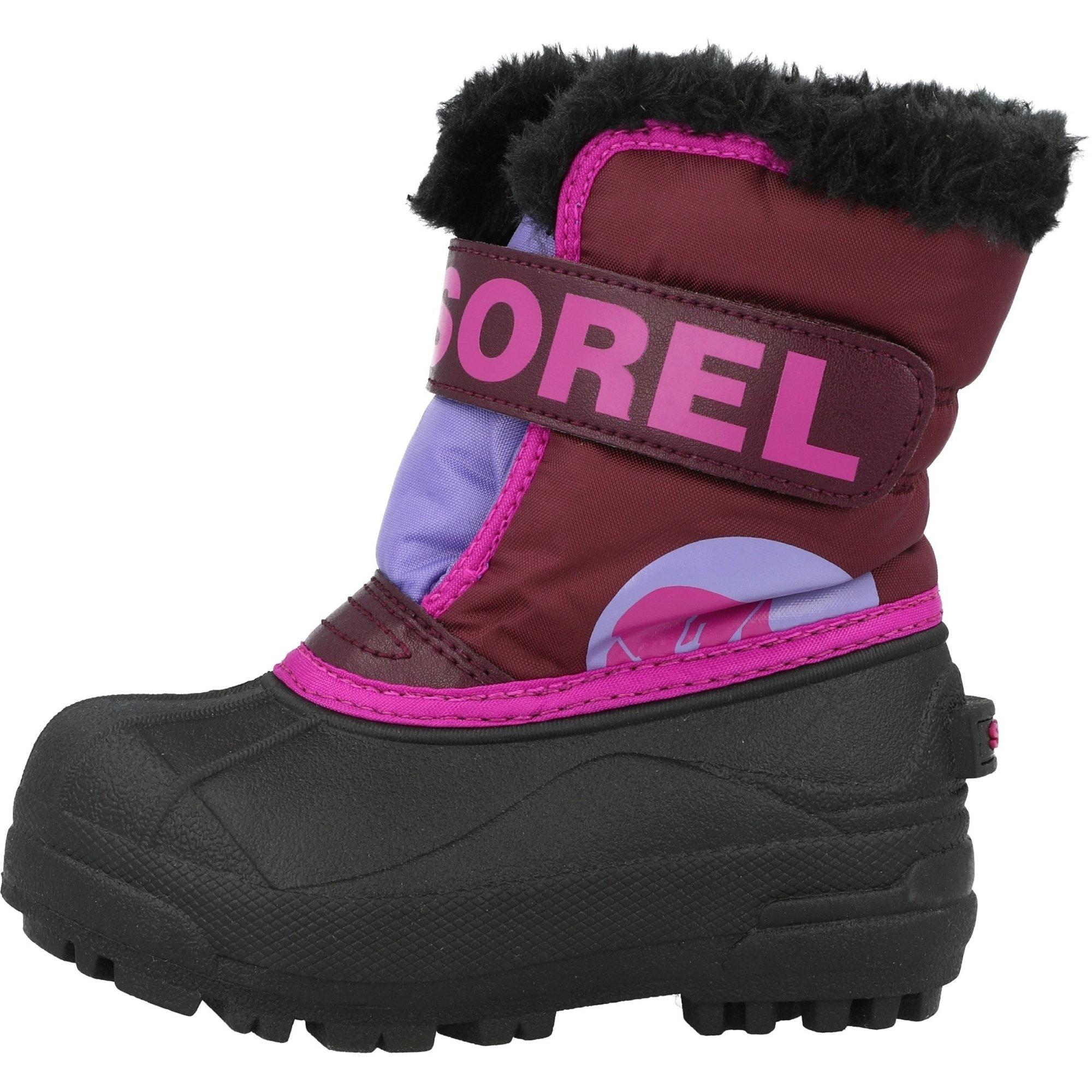 Sorel Snow Commander Girls Snow Boots Purple Dahlia