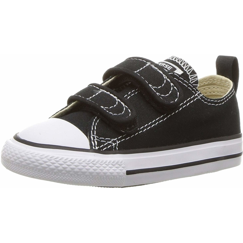 Details about Converse Chuck Taylor All Star 2V Black Textile Baby Trainers Shoes