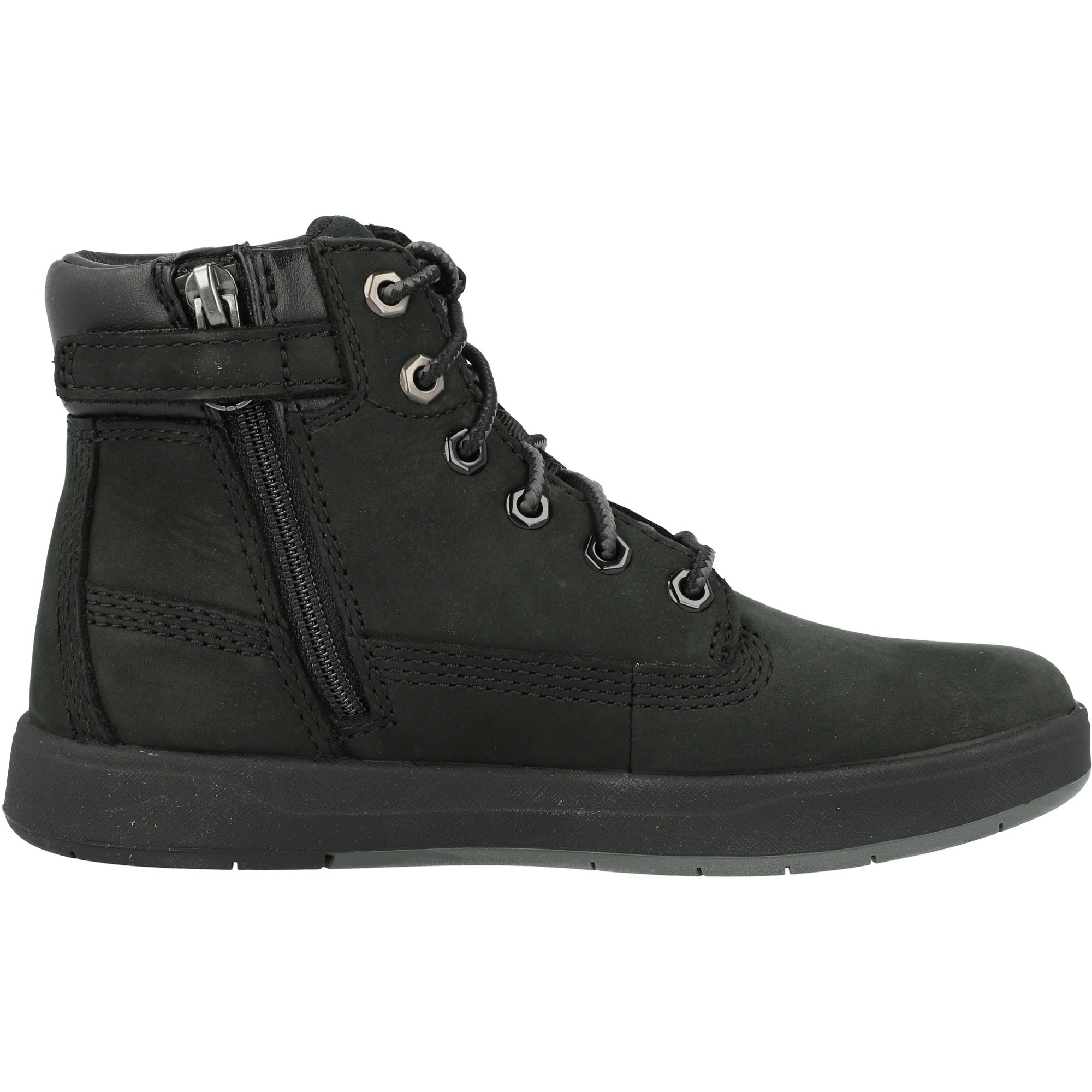 Timberland Davis Square 6 Inch Boot Black Nubuck Junior