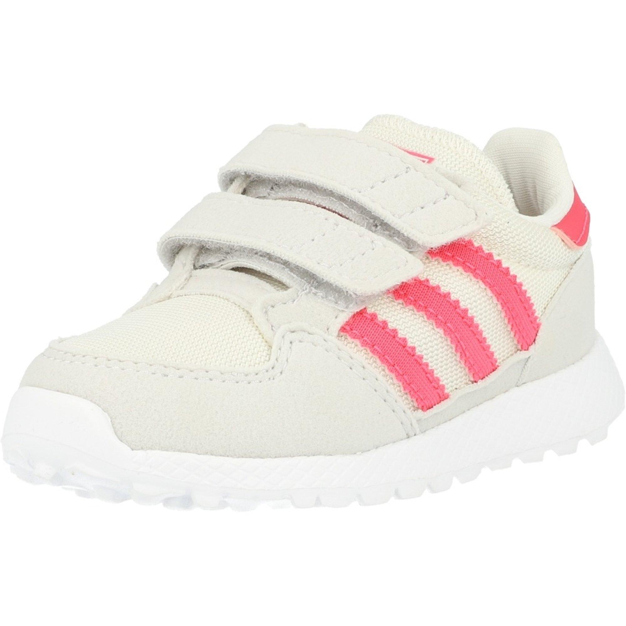 adidas Originals Forest Grove CF I Kreide WeißEcht Pink Synthetisches Wildleder Säugling