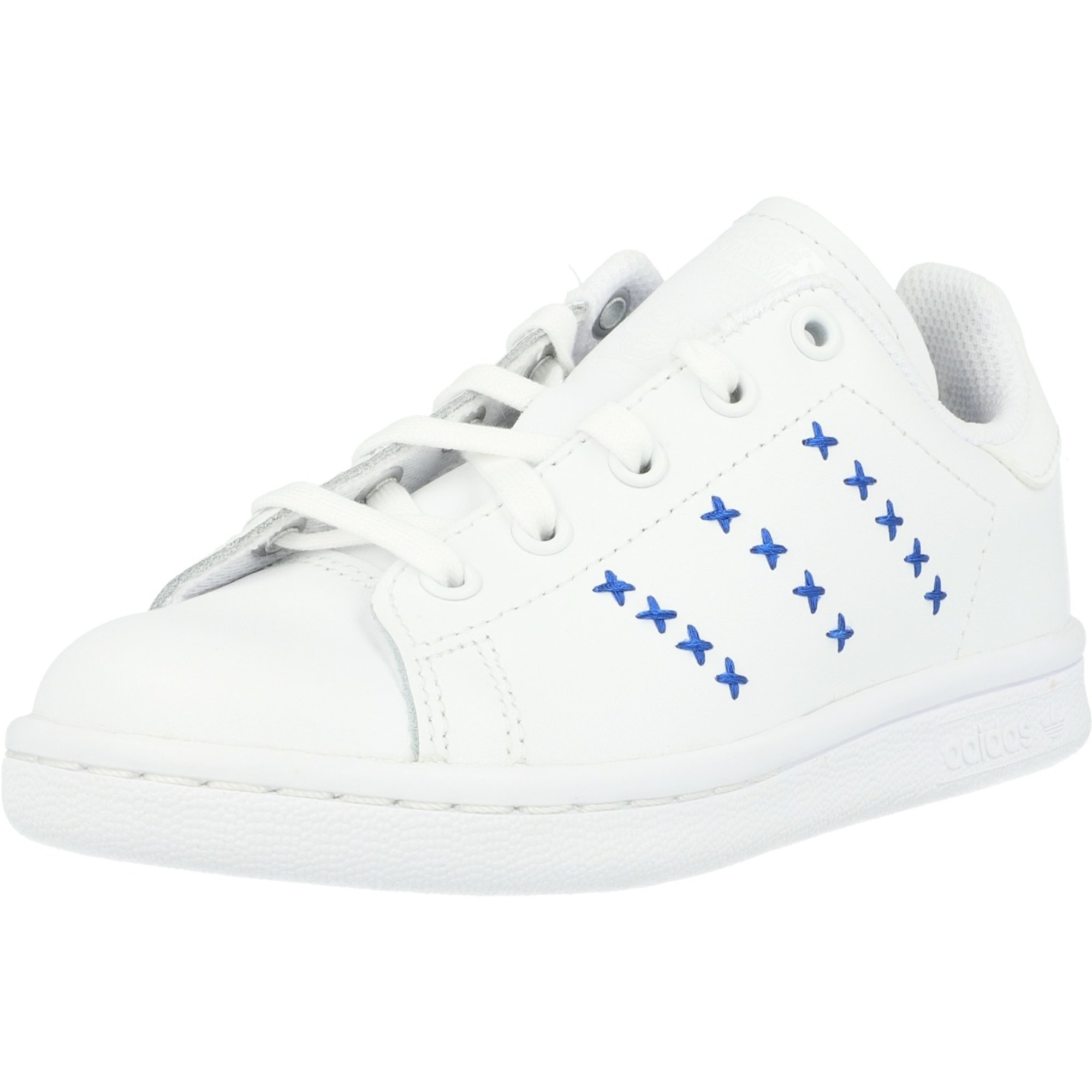 adidas Originals Stan Smith C White/Royal Blue Leather Child