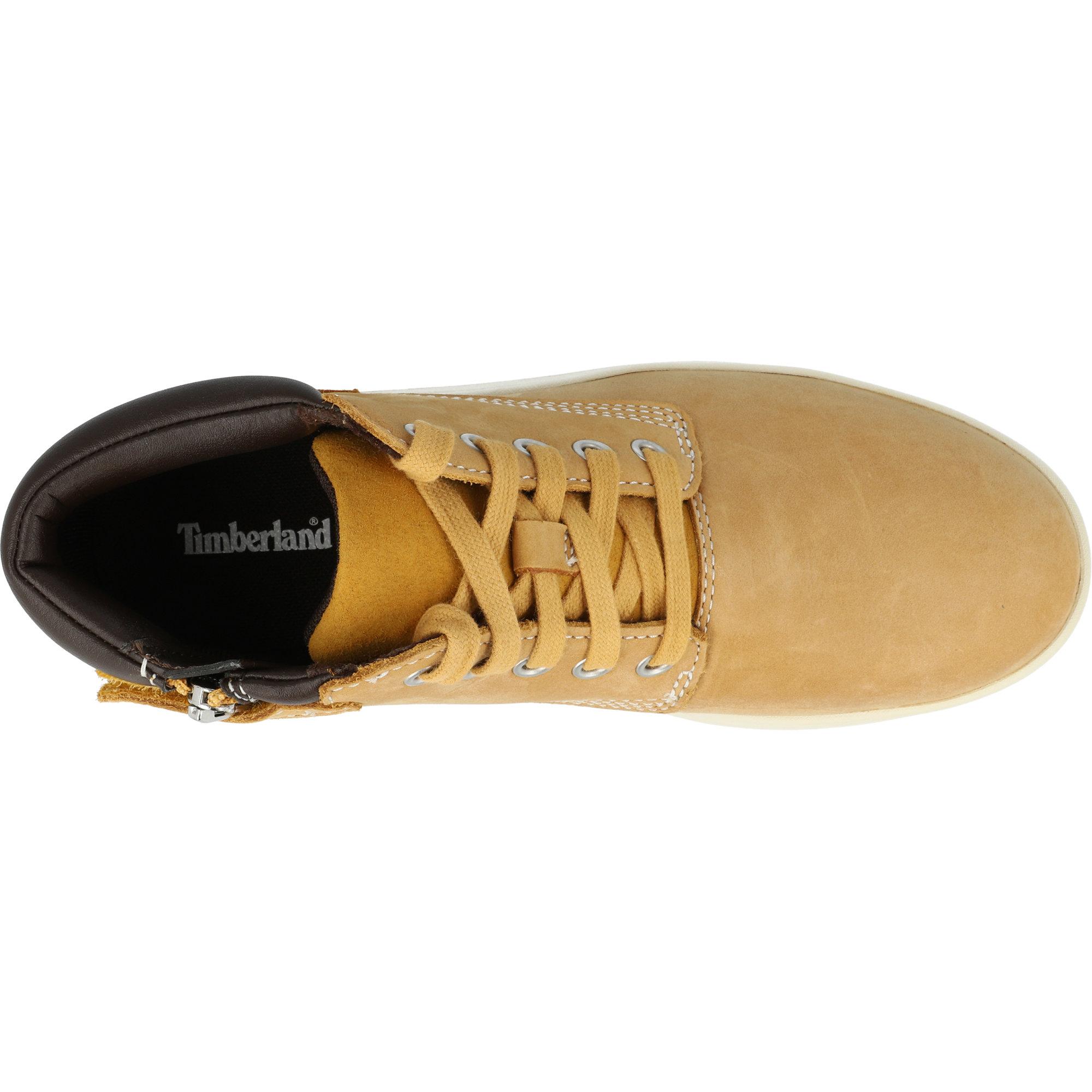 Timberland Youths Boys//Girls Boots Leather Wheat Davis Square Sizes UK3.5-UK6.5