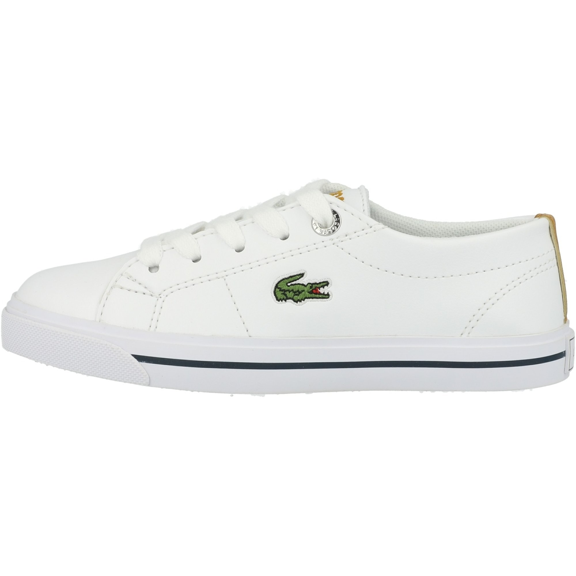 Lacoste Riberac 418 1 White//Dark Tan Synthetic Youth Trainers Shoes