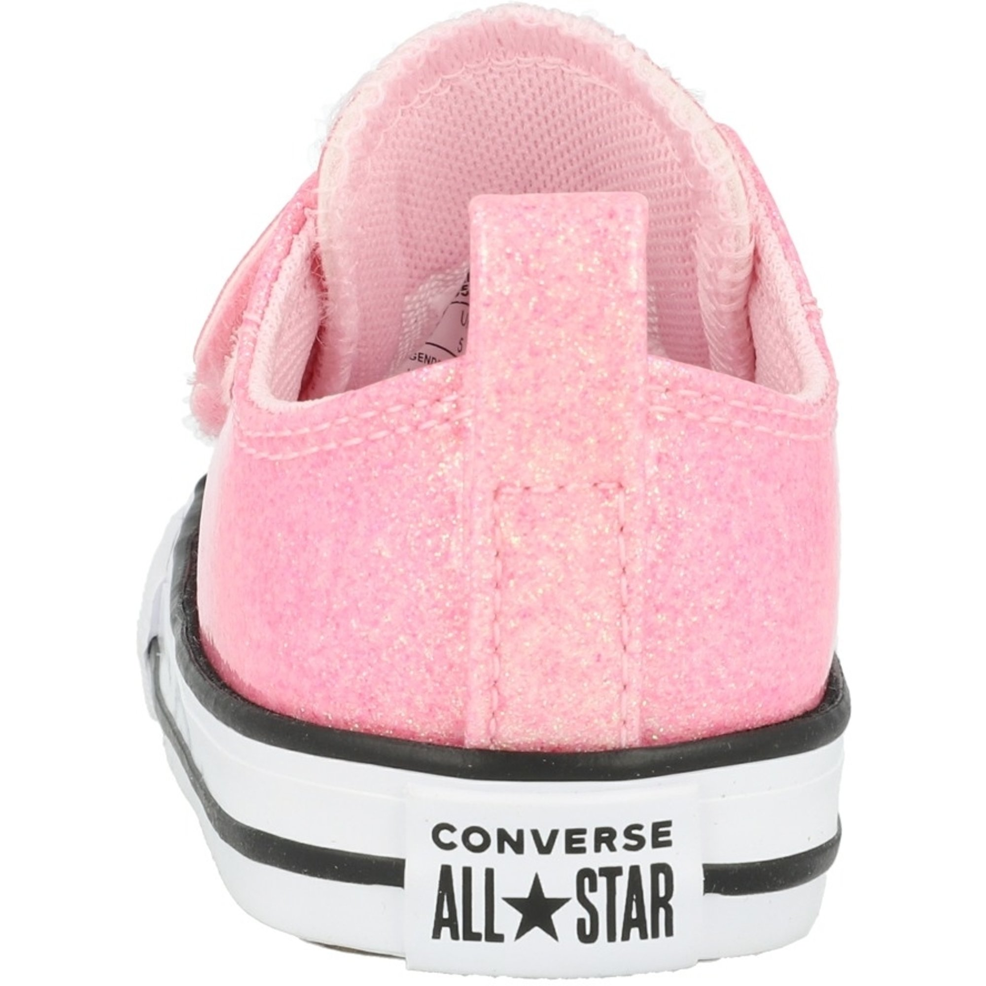 Converse Chuck Taylor All Star 2V Coated Glitter Cherry BlossomBlackWhite Synthetic Baby