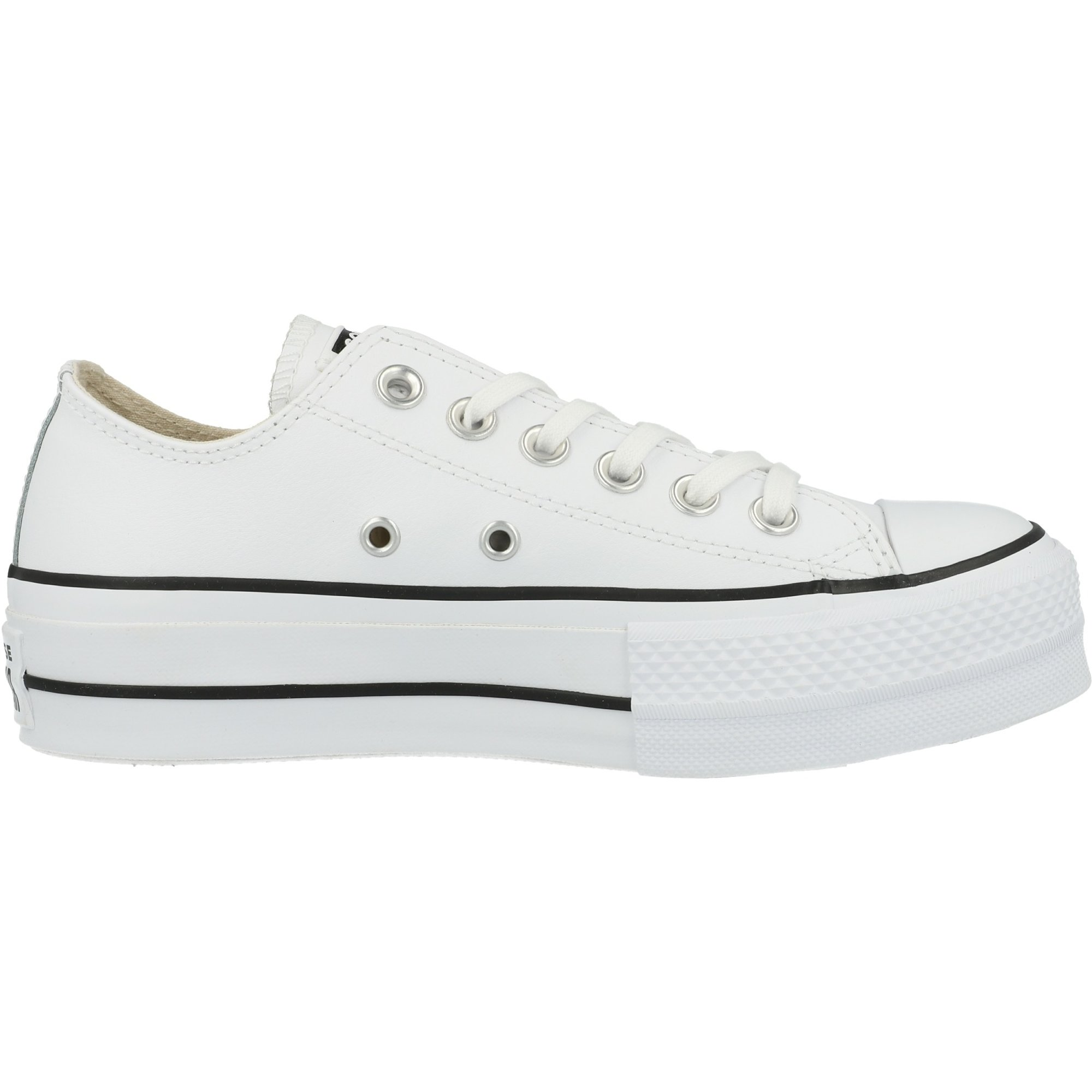 Converse Chuck Taylor All Star Lift Ox Clean White/Black Leather