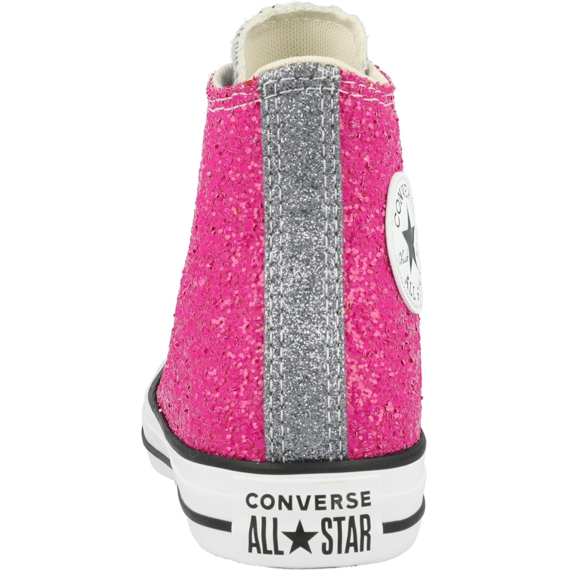 Converse Chuck Taylor All Star Hi Glitter RosaSilberWeiß Synthetik Erwachsene