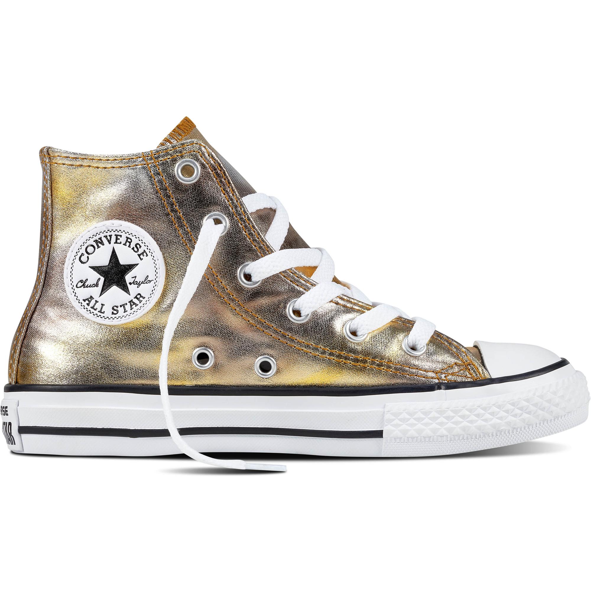 Converse Chuck Taylor All Star Hi SilberGold Textil Junior