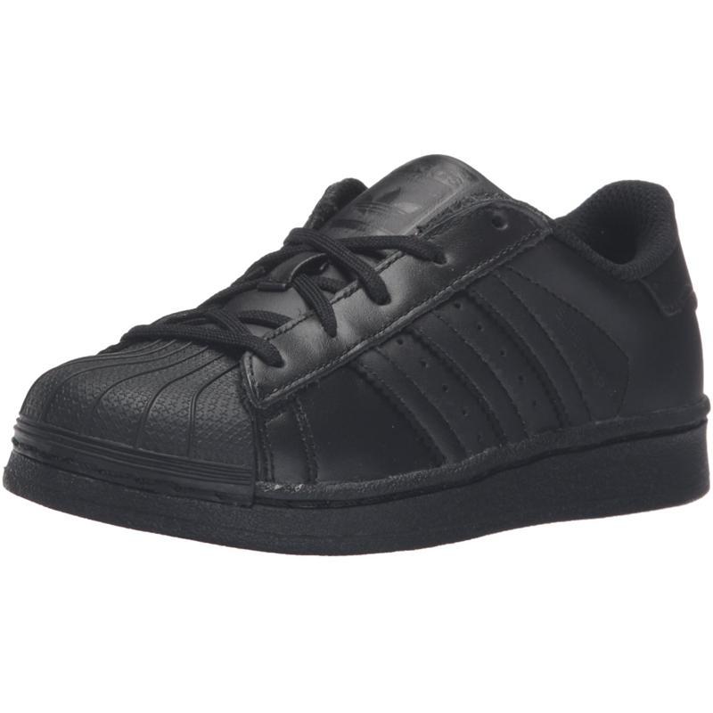 Details about adidas Originals Superstar C Black Leather Junior Trainers