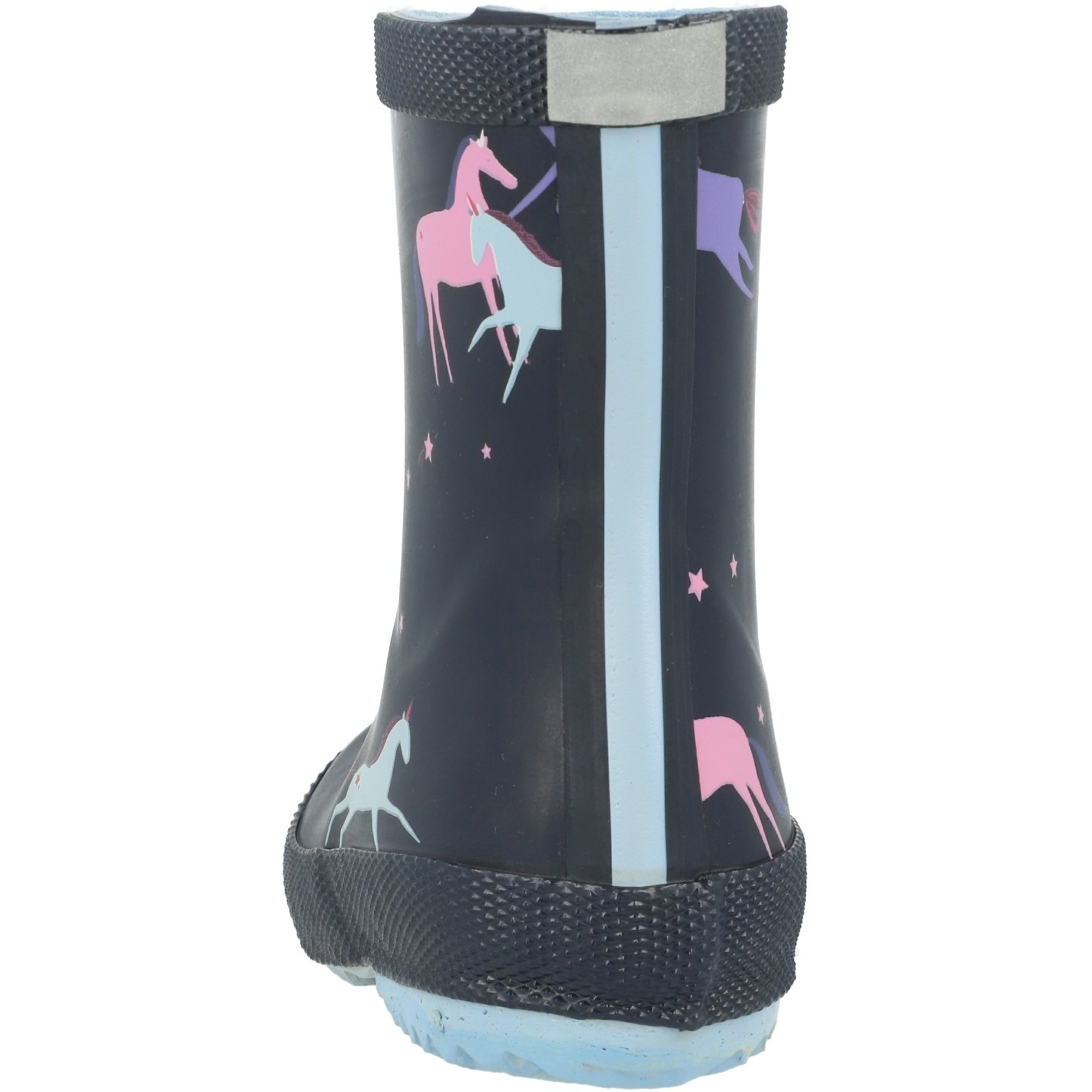 New Joules Junior Navy Magical Unicorn Print Wellies Childrens 11 and 12