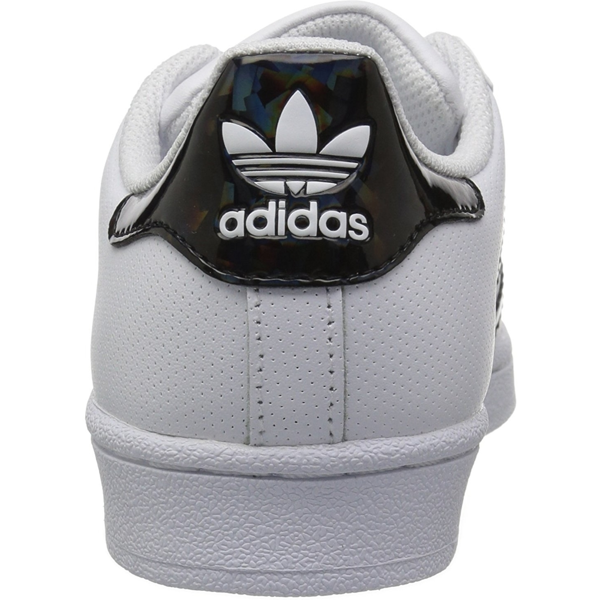 adidas Originals Superstar J BlancHolographique Noir Cuir Jeunesse