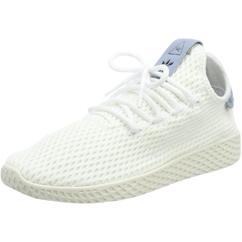 cheaper arrives pretty cool Détails sur adidas Originals Pharrell Williams Tennis Hu Blanc/Bleu Textile  Jeunesse
