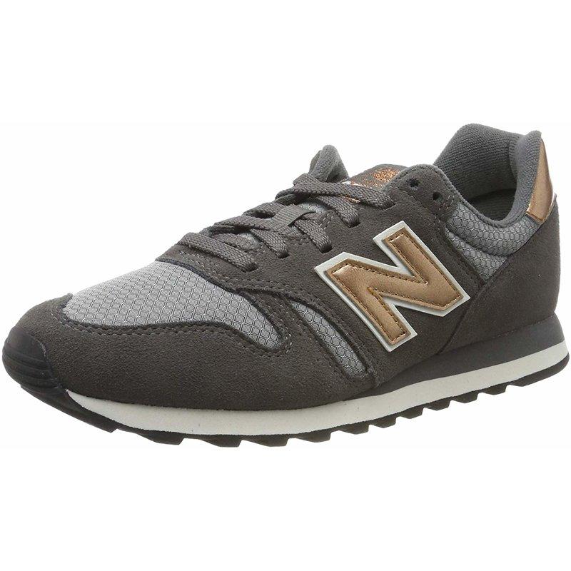 Details zu New Balance 373 Castlerock/Kupfer Metallic Leder Erwachsene  Trainer Schuhe