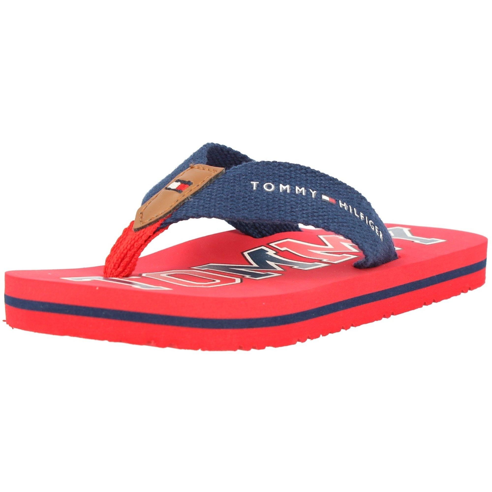 Tommy Hilfiger Flip Flop Red/Blue Textile